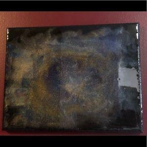 "🆕Gorgeous 11x14 Resin Art on canvas ""Galaxy"""